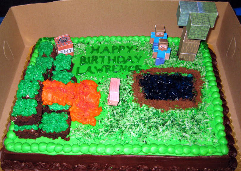 Easy Minecraft Cake Deborah Does NavelGazing